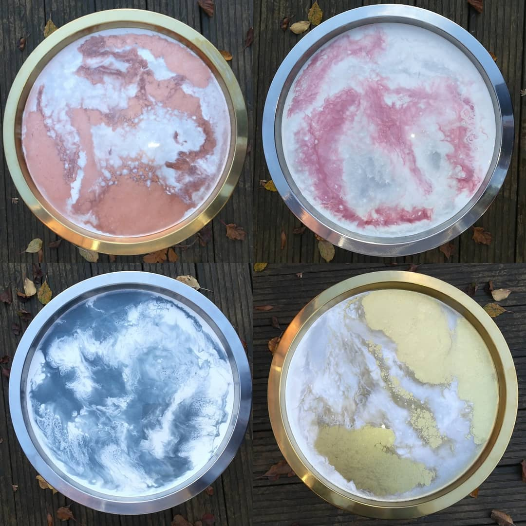Resin serving trays